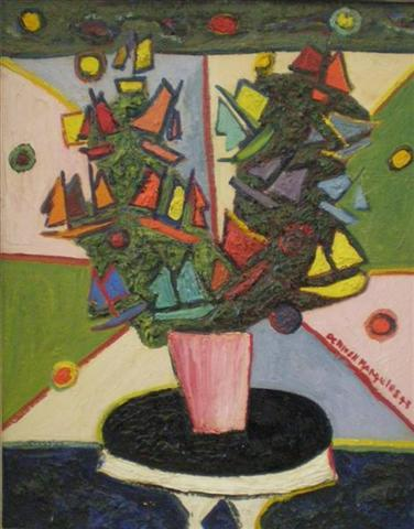 De Hirsch Margules  Bi Focus, 1943  Oil on board 20 x 16 inches MARG_D_004