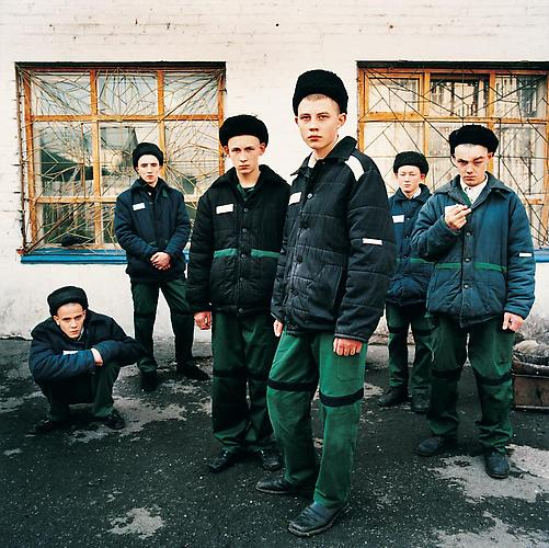Young Prisoners. Juvenile prison for boys, Russia , 2009 C-Print 37 x 37 inches Edition of 7