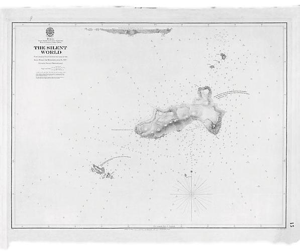 Cousteau in the Underworld: The Silent World, 2010. Digital print on paper, 60 1/2 x 45 inches.