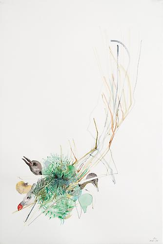 Emilie Clark, Untitled (EHR-54), from Sweet Corruptions (2013) Watercolor And Graphite  On Paper 22h x 15w in (55.9h x 38.1w cm)