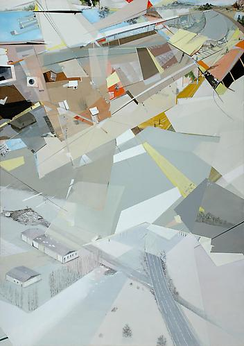 All is Well #7, 2004. Oil and acrylic on canvas, 36 x 24 inches.