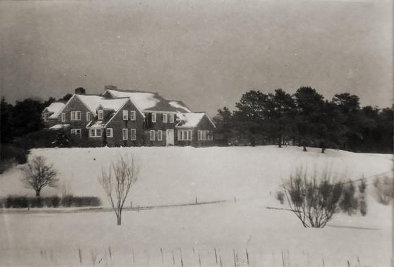 Untitled [house in snow] circa 1932 vintage gelatin silver print