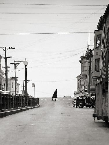 Telegraph Hill, Top of Union Street circa 1950 gelatin silver print