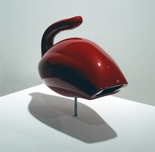 Duck  (front view), 2009 Actual vacuum, plastic, PPG paint System 12 x 8 x 7 inches