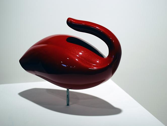 Duck  (side view), 2009 Actual vacuum, plastic, PPG paint System 12 x 8 x 7 inches