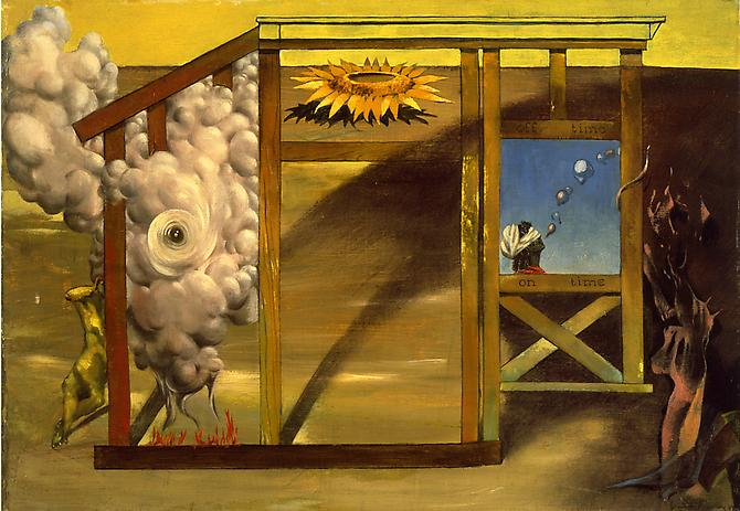 On Time Off Time, 1948  Oil on canvas, 14 1/8 x 22 in. Museum of Modern Art, New York   View More  ➤