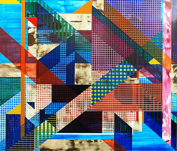 Thumb 3/3, 2010-2011. Acrylic paint on cotton canvas, 60 x 70 inches.
