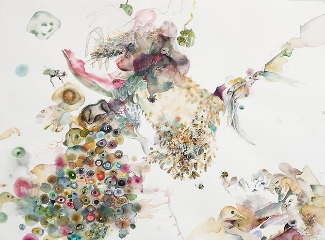 Untitled (EHR 42) from Sweet Corruptions (2012) Watercolor, graphite on paper 22h x 30w in (55.88h x 76.2w cm)