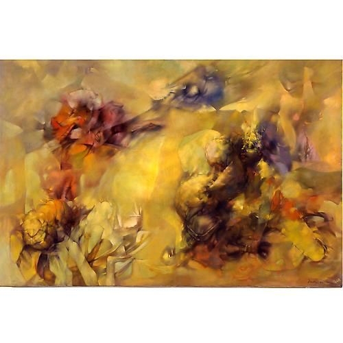 Tempête en jaune (Tempest in Yellow), 1956  Oil on canvas, 57 7/8 x 38 in. Minneapolis Institute of Arts, Minnesota   View More  ➤