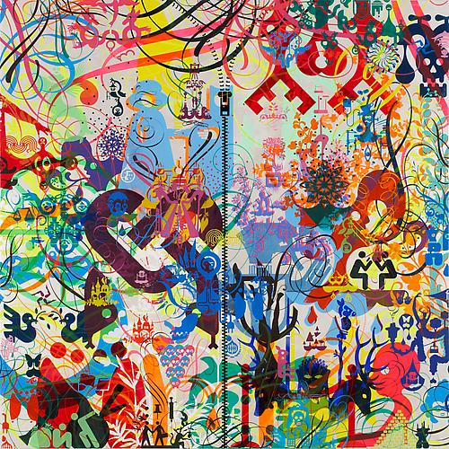 Ryan McGinness. Sometimes, 2012. Acrylic on wood panel, 48 x 48 inches.