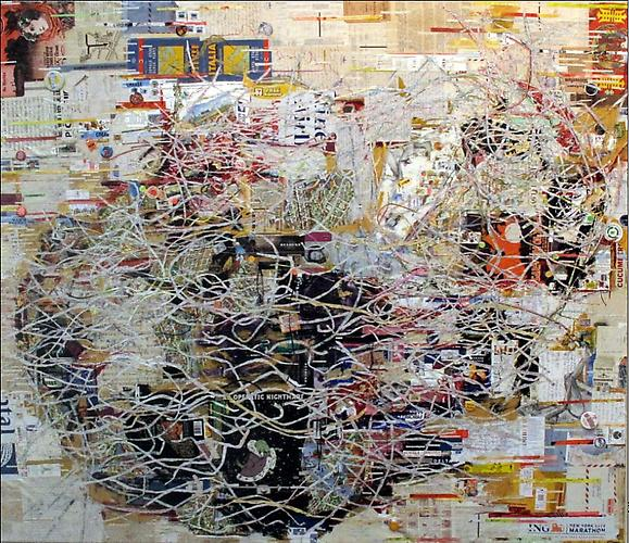 Kate Rivers Dido, 2010 Mixed media on canvas, 83 x 90 inches.