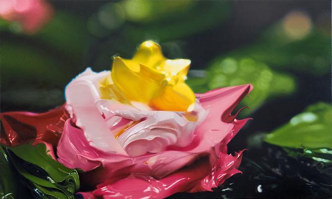 Ben Weiner Lotus, 2012. Oil on canvas, 35 x 60 inches.