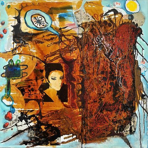 Mie 7 (from Conversations with Mie Series) Nick Lawrence, 2012 oil, mixed media on canvas 36 x 36 inches