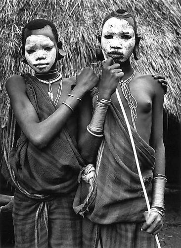 Portraits in the Surma village of Bebeletsho, in the Maji Region, South Omo, Ethiopoa 2007 gelatin silver print