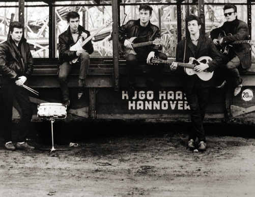 Astrid Kirchherr, The Beatles, Hamburg Fun Fair, Heiligengeistfeld 1960