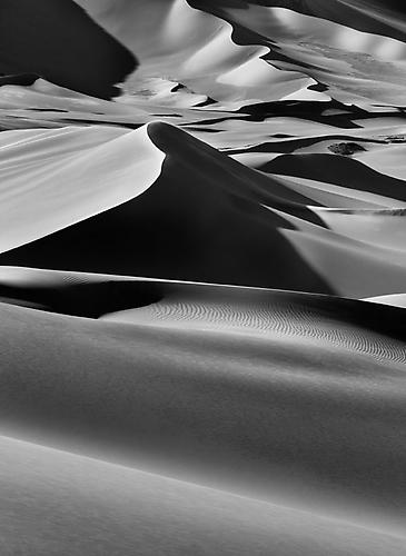 Sand Dunes between Albrg and Tin Merzouga, Tadrart, South of Djanet, Algeria 2009 Gelatin Silver Print
