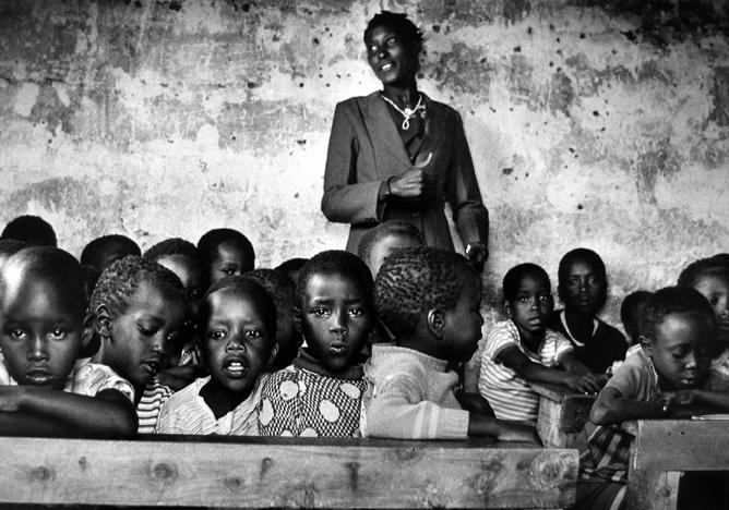 School in the Lake Victoria region, Kenya 1986 gelatin silver print