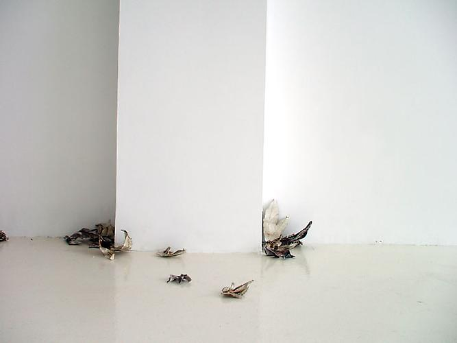 Talking about Dreaming, 2008 Linen, aluminum and ink Dimensions variable