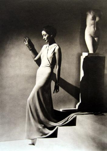 Evening Wear by Augusta Bernard, Paris [Toto Koopman] 1935 platinum/palladium print