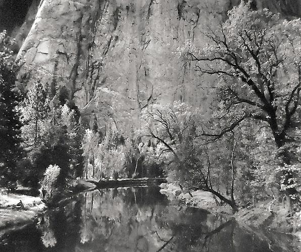 Merced River, Cliffs, Autumn, Yosemite Valley © Ansel Adams Trust 1939 Gelatin silver print
