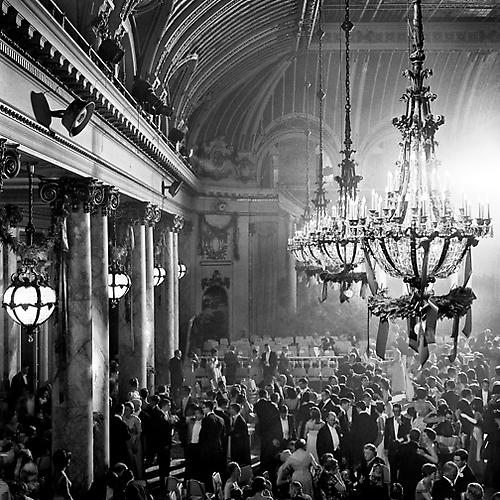 Cotillion in Palace Hotel, Palm Court 1958 gelatin silver print
