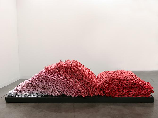 Beefcake Chaise Lounge (Pink), 2011 Rope, latex paint