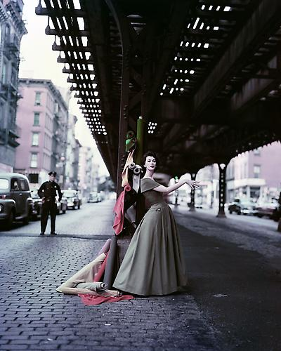 """Dovima Under the El"" (""Dior Creates Cosmopolitan Drama"") 1956 Archival Pigment Print"