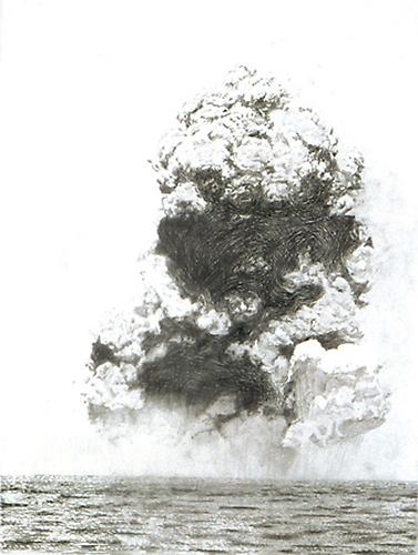 Mid-Ocean Explosion, 2000-2001  Graphite on paper, 29 ¾ x 21 15/16 in.   View More  ➤