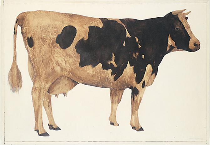Cow, 1963  Oil on canvas, 43 x 62 in.   View More  ➤