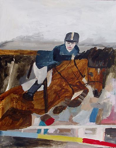 Lady Jockey, 2009 Oil on panel 8 x 10 inches