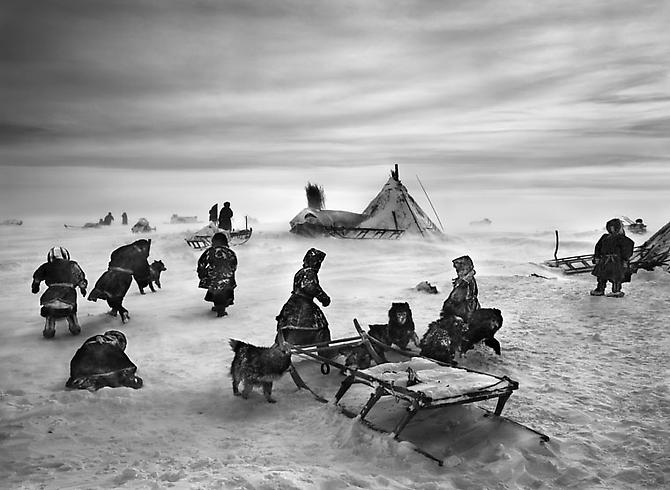 Nenets, an indigenous nomadic people, whose main subsistence come from reindeer herding, South Yamal region, Siberia, Russia 2011 gelatin silver print