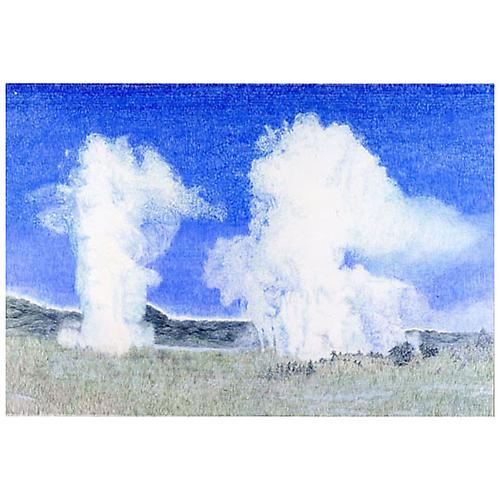Two Geysers, 2004  Colored pencil on paper, 44 ¼ x 64 in.   View More  ➤