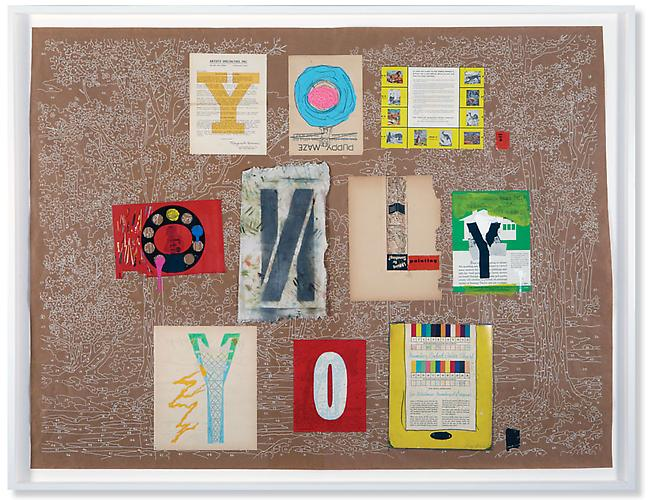 You. Only You, 2008. Silkscreen, collage elements & mixed media on paper, 51 7/8 x 67 3/4 inches.