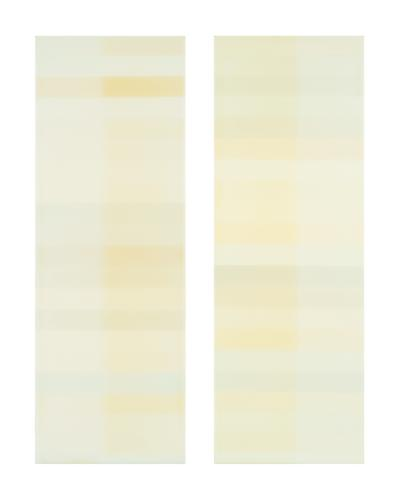 Jaq Chartier, Sun Test: 40 Whites (2004-10) Acrylic And Paint On Panel  20h x 16w in (50.8h x 40.64w cm)