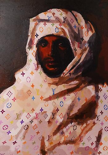Neo-Orientalist (2011)  -  Enquire  Acrylic on Canvas 66 x 117 cm