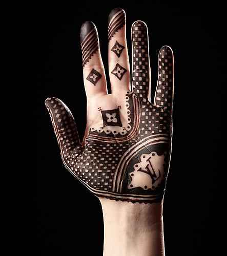 LV  -  Enquire  From the  Luxury Henna  Series (2011) Glossy C-Print 125 x 99 cm (Editions of 5)