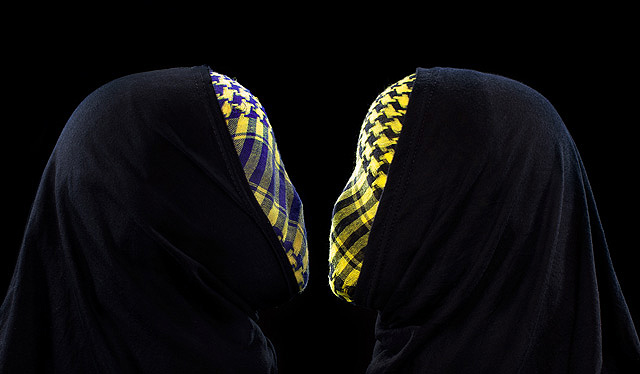 Hijab Kafiya (2009)  -  Enquire  Glossy C-Print 100 x 130 cm (Editions of 5)