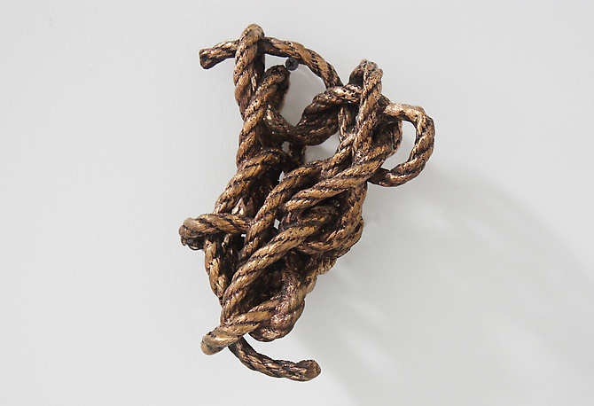 Untitled (Bronze Knot), 2011 Bronze cast rope 9x7x4""