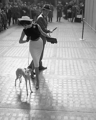 Simone With Whippet 1959