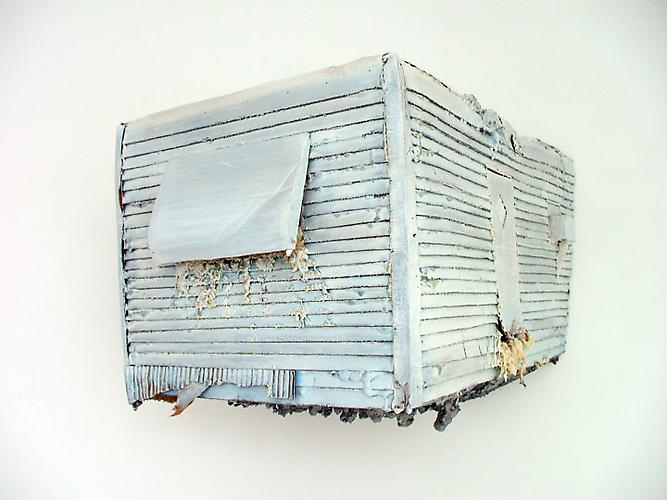 Subprime/Subtropics, 2008 Cardboard, wood, and urethane foam 39 x 36 x 16 in.