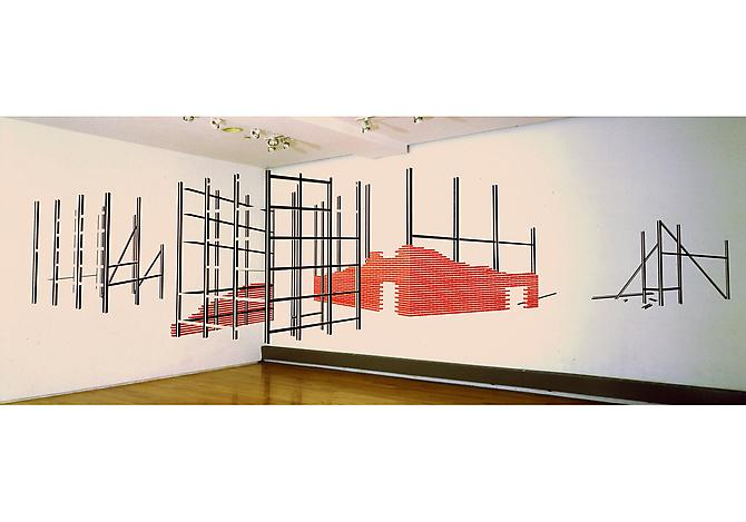 New City, 2007  Tape, work located on inside corner wall, 10 x 16 x 12 ft. (dimensions variable)   View More  ➤