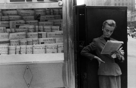 Elbowing, Out of Town News Stand, New York 1954 gelatin silver print