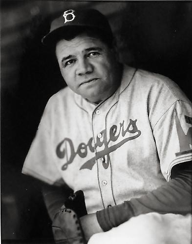 Babe Ruth, Dodger Portrait not dated gelatin silver print