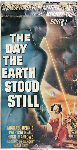 The Day the Earth Stood Still, ca. 1951 Original poster, 27 ¼ x 14 ¼ in.