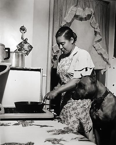 Billie Holiday [cooking], New York 1949 gelatin silver print
