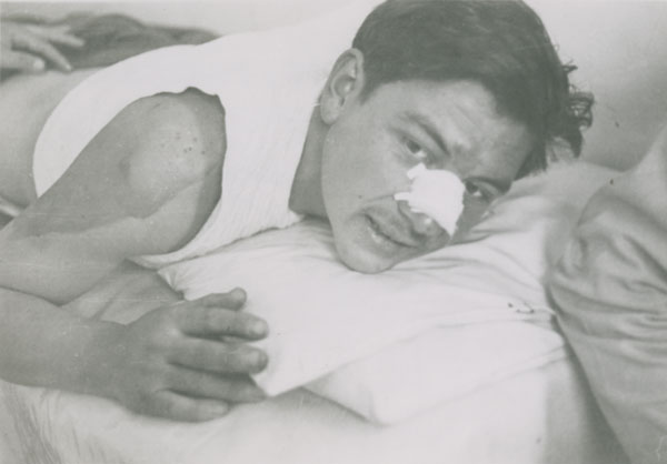 Accidentado, 1983 vintage silver gelatin print, 3.2 x 4.5 inches (81. x 11.4 cm)