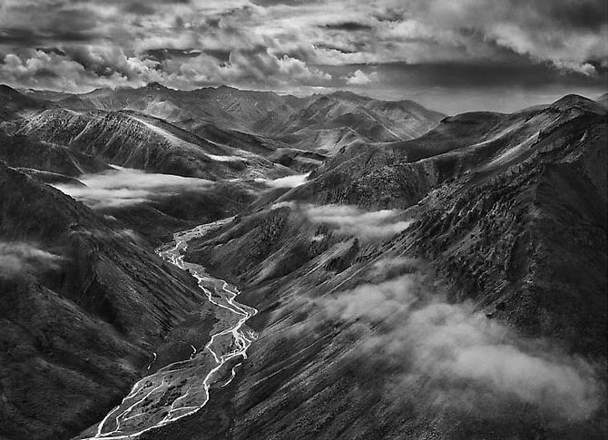 The Brooks Range Mountains, Close to the Achillik area, not Far From the Coastal Arctic Plain. 2009 gelatin silver print