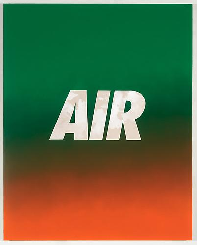 Air (Green/Orange) 2013 Oil on canvas over panel 60 x 48 inches
