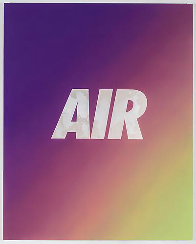Air (Purple/Yellow) 2013 Oil on canvas over panel 60 x 48 inches