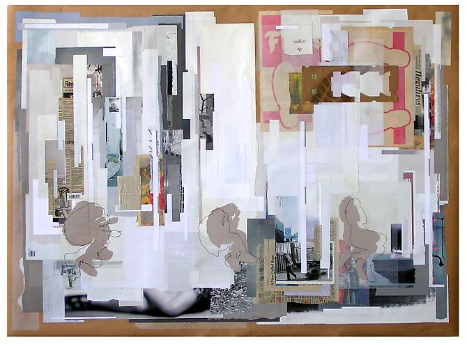 Comfort Zone, 2009 paper on paper 60 x 40 inches